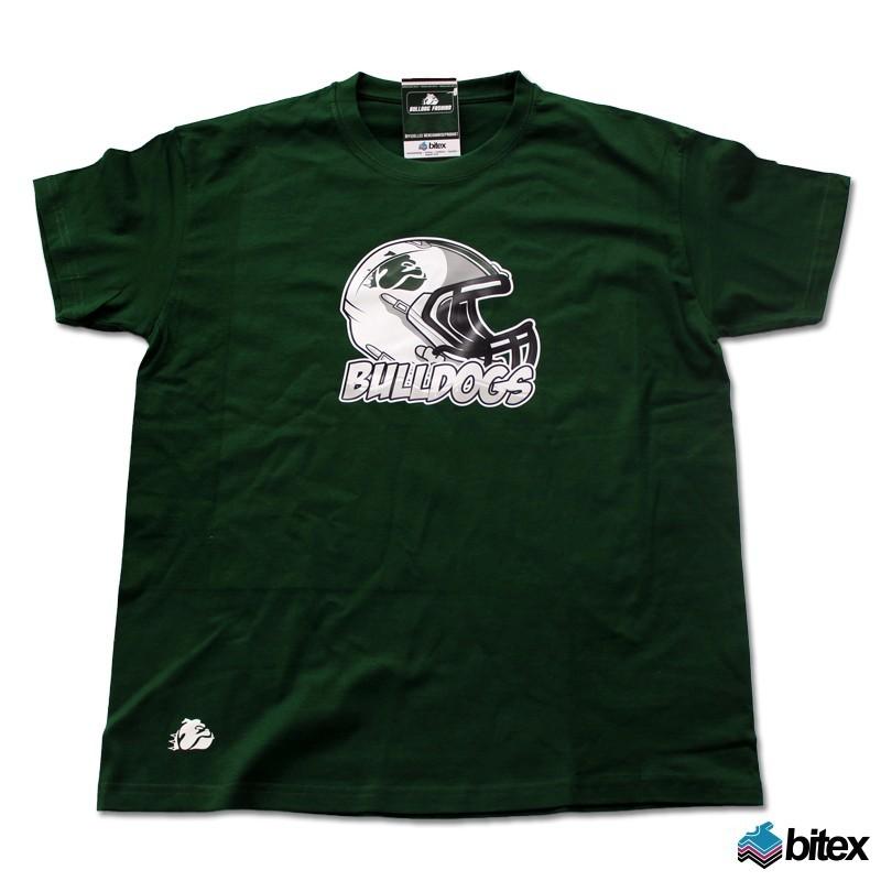 """Herren T-Shirt """"Helmet"""" in grün"""