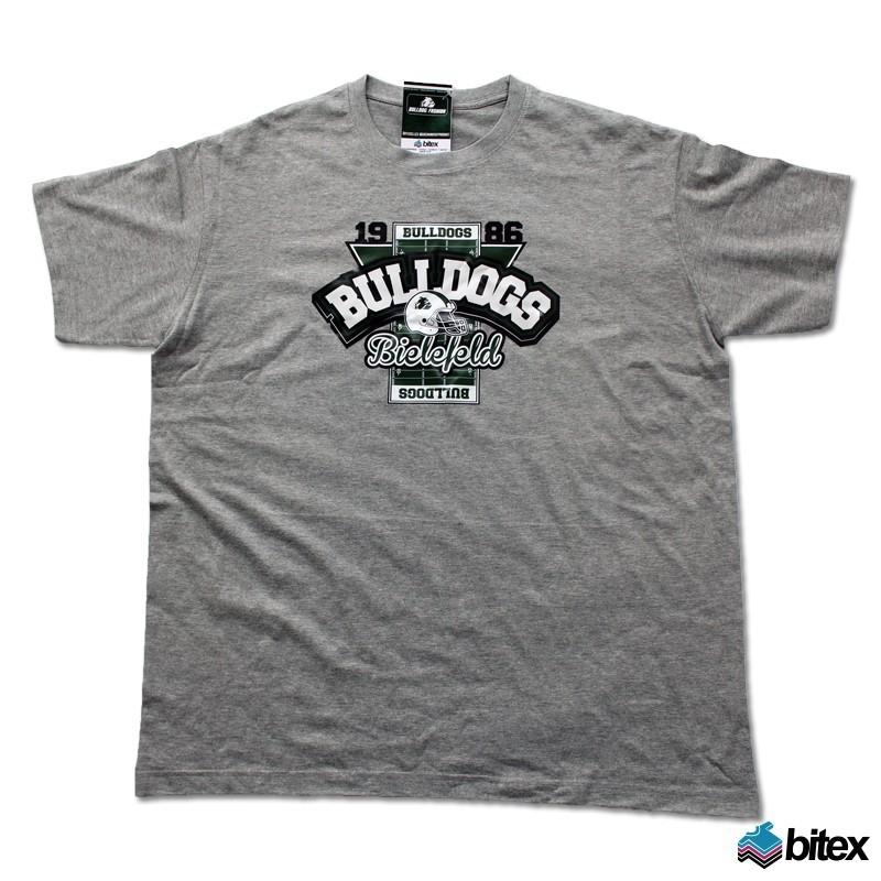 """Herren T-Shirt """"Field"""" in grau"""
